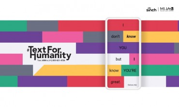 Timeout Called on Online Negativity as Mobile Users are Invited to #TextForHumanity