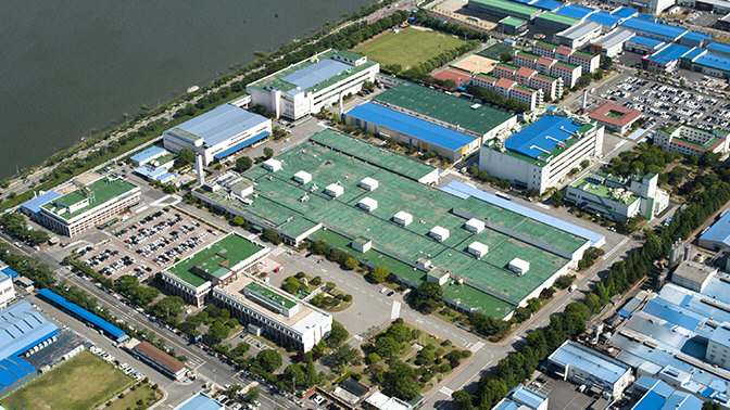 Samsung Electronics Co.'s factory in Gumi, North Gyeongsang Province. (image: Samsung Electronics)
