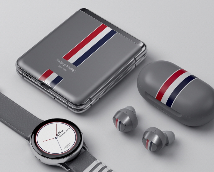 The Galaxy Z Flip Thom Browne edition. (image: Samsung Electronics Co.)