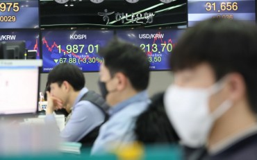 Foreign Selling of Korean Stocks Soars in Feb. on Virus