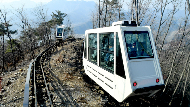 Longest Mountain Monorail in S. Korea Opens