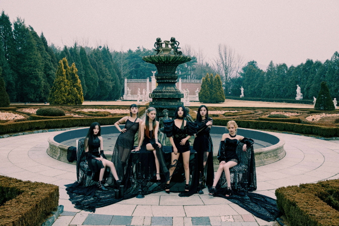 "A promotional image of (G)I-dle for EP ""I Trust,"" provided by Cube Entertainment."