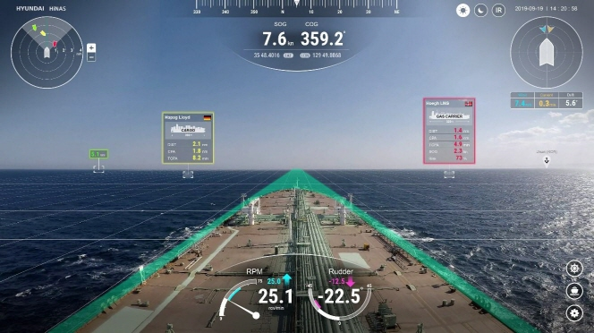 Hyundai Intelligent Navigation Assistant System. (image: Hyundai Heavy Industries Group)