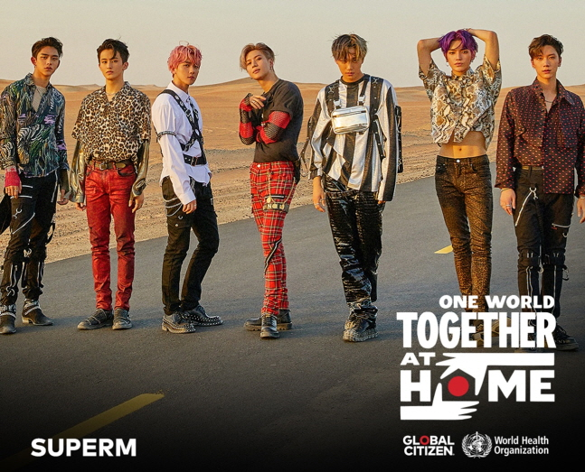 An image of SuperM, provided by SM Entertainment