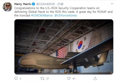 U.S. Ambassador's Tweet on Global Hawk Sparks Controversy over Publicity of Sensitive Military Assets