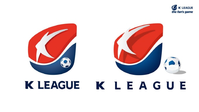 This image provided by the Korea Professional Football League on April 7, 2020, shows the league's emblem promoting the use of masks and social distancing to prevent the spread of the coronavirus.