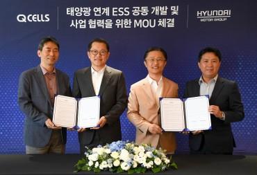 Hyundai Motor, Hanwha Q Cells Join Hands for ESS Development