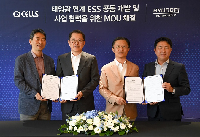 Hyundai Motor, Hanwha Q Cells Join Hands for ESS Development