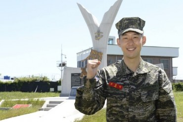 Tottenham's Son Heung-min Wraps Up Three-week Military Training with Flying Colors