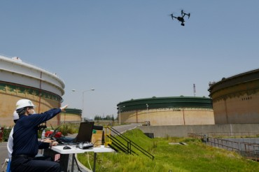 SK Energy Deploys Drones to Inspect Oil Tanks