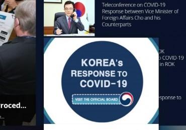 South Korea Opens Online English Bulletin Board on Coronavirus Response