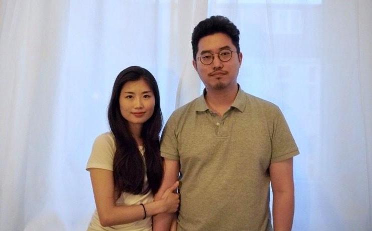 Lee Se-jin (R) and his wife Kim Hyun-eum (Yonhap)