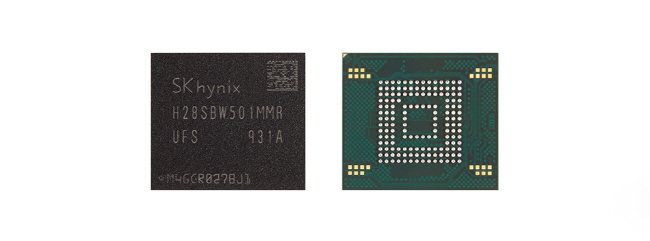 This photo provided by SK hynix shows the company's NAND flash memory chips.