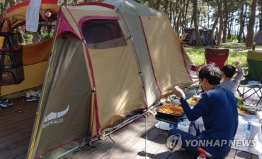 S. Koreans Venture Out to Remote Campgrounds to Avoid Crowds, Virus