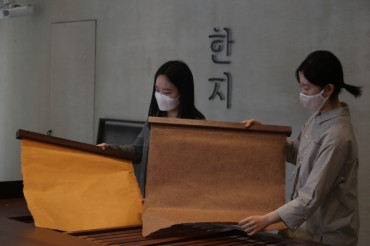Korean Traditional Hand-made Paper 'Hanji' Goes Global
