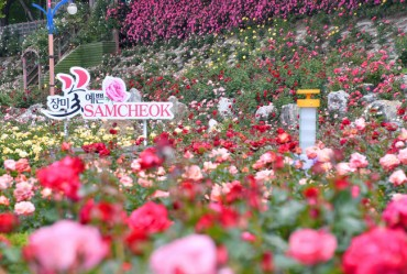 Samcheok's Oship Stream Rose Park Begins to Bloom