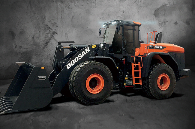 This file photo provided by Doosan Infracore Co. shows the DL-7, a next-generation wheel loader.