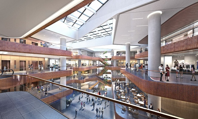 The 700,000 sq. ft. shopping mall at AIRSIDE offers an authentic curation of leisure experiences (image: Nan Fung Group)
