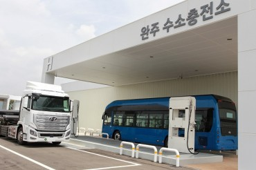 Hyundai Opens 1st Hydrogen-charging Station for Commercial Cars
