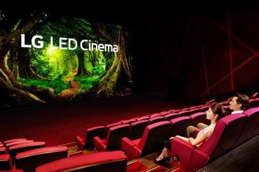 LG Debuts LED Cinema Display at Taiwanese Movie Theater