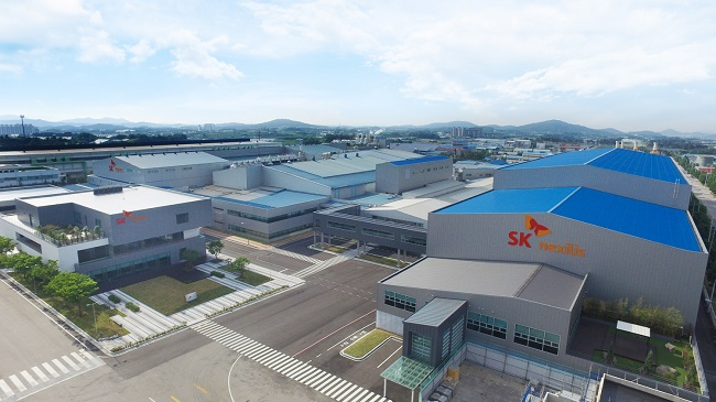This photo, provided by SKC Co. on June 1, 2020, shows SK Nexilis' plant complex in the southwestern city of Jeongeup, where a sixth plant will be built.