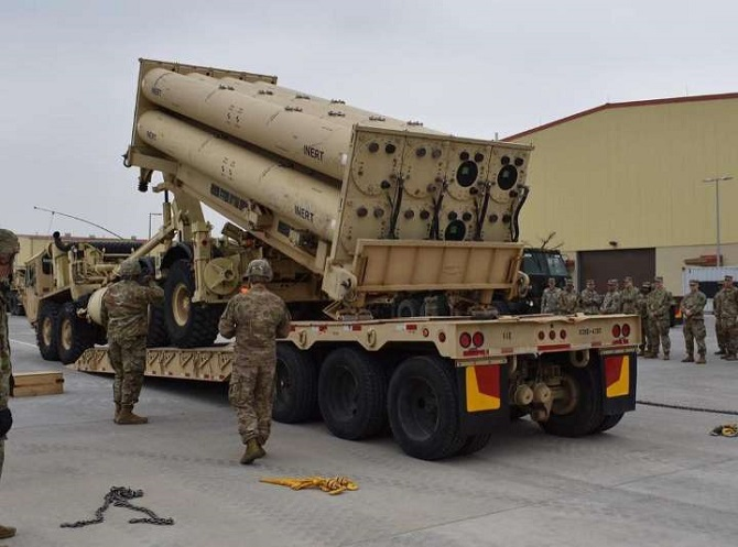 A launcher of an advanced U.S. missile defense system called THAAD is seen in this photo captured from the Facebook account of the 35th Air Defense Artillery Brigade of the U.S. Forces Korea (USFK) on April 24, 2019.