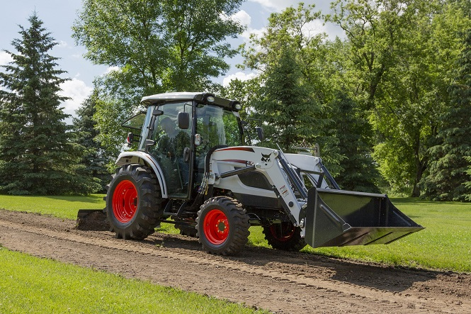 This file photo provided by Doosan Bobcat Inc. shows a compact tractor.