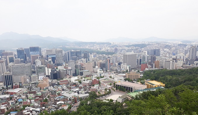 Shown in the file photo taken on May 28, 2020, is a view of the capital city of Seoul. (Yonhap)