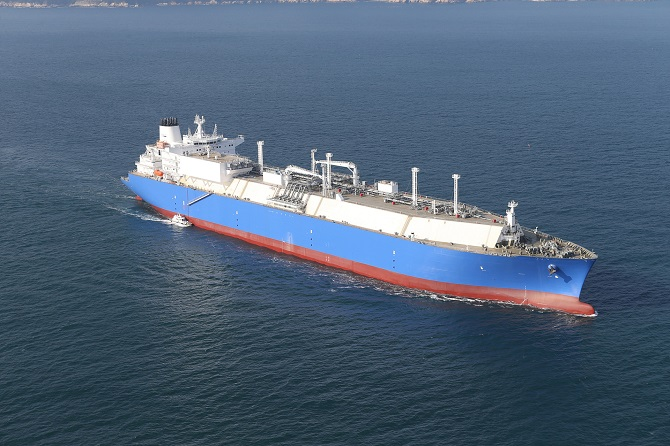 This undated image, provided by Daewoo Shipbuilding & Marine Engineering Co., shows an LNG carrier built by the company.