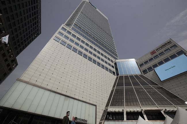 This photo shows Doosan Tower, Doosan Group's building in Seoul. (Yonhap)