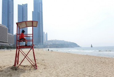 Haeundae Beach Opens Up Without Parasols
