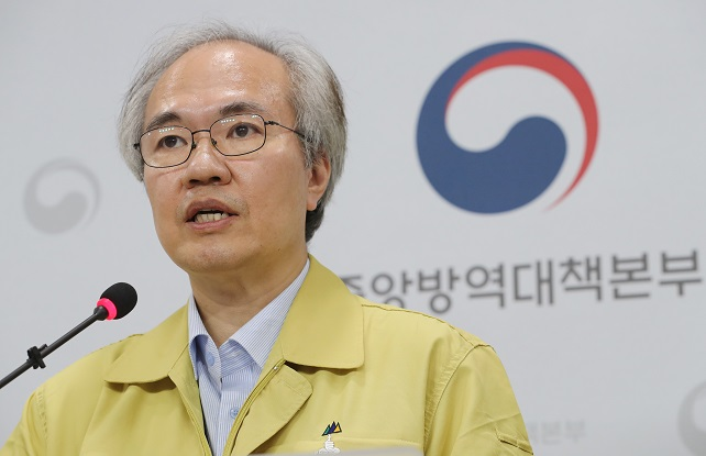 Kwon Joon-wook, deputy director of the Korea Centers for Disease Control and Prevention (KCDC), speaks at a daily coronavirus briefing at the KCDC headquarters in Osong, about 120 kilometers south of Seoul, on June 30, 2020. (Yonhap)