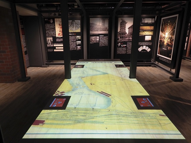 This photo, provided by Japan's new Industrial Heritage Information Centre in Tokyo on June 14, 2020, shows an exhibit on industrial sites during the Meiji Era.