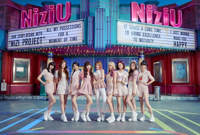 A publicity photo of girl group NiziU provided by JYP Entertainment