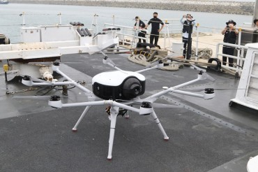 S. Korea's First Rescue Drill Using Hydrogen Drones Takes Place at Sea