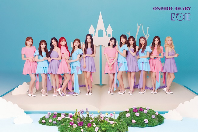A publicity file photo of IZ*ONE, provided by Off the Record