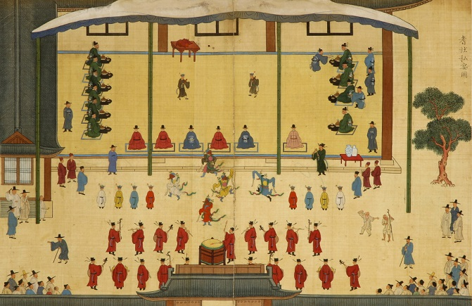 "An image of ""Gisa Gyecheop"" (Album of Paintings of the Gathering of Elders) to be put on display at special exhibition ""New National Treasures 2017-2019"" from July 21-Sept. 27 at the National Museum of Korea in Seoul."