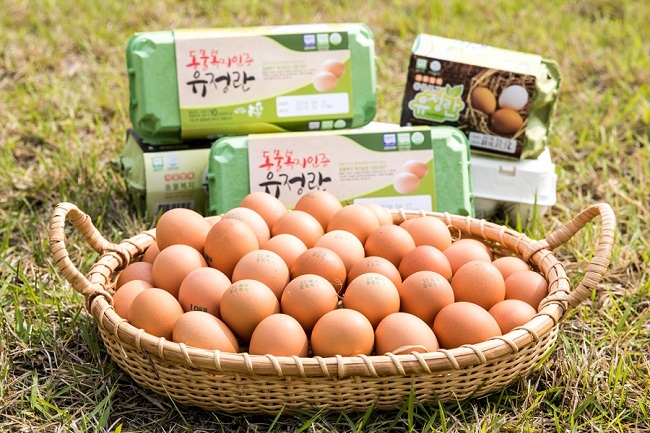 In general, animal welfare foods are expensive compared to non-certified products due to the relatively higher cost of raising animal-friendly products and small supply into the market. Animal-welfare eggs, for example, are more than twice the price of regular (or non-certified) eggs. (Image courtesy of the Rural Development Administration)
