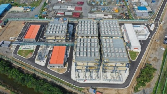 This photo provided by Daesan Green Energy shows a by-product hydrogen fuel cell power plant in the Daesan industrial complex in South Chungcheong Province.