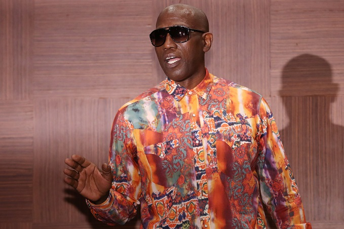 A file photo of Hollywood star Wesley Snipes at a news conference for the 2019 Chungbuk International Martial Arts and Action Film Festival at a Seoul hotel on Aug. 28, 2019. (Yonhap)