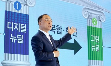 S. Korea to Invest 160 tln Won in 'New Deal' Projects, Create 1.9 mln Jobs