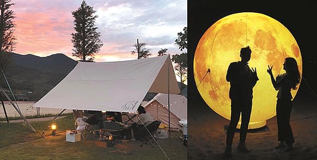 Auto camping site at Pyeongsa-ri, Agyang-myeon, Hadong-gun, Gyeongsangnam-do (Image courtesy of Pyeongsari Park)