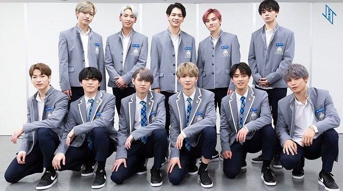 "A promotional image of the final survivors of ""Produce 101 Japan,"" a spin-off of South Korea's ""Produce"" idol audition series on music cable network Mnet, owned by CJ ENM of South Korea."