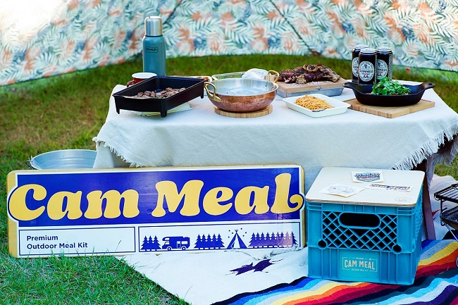 This photo, provided by Hyundai Green Food, shows its camping meal kit brand named Cam Meal.