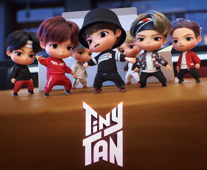 This promotional image provided by Big Hit Entertainment shows TinyTAN, a character brand inspired by and modeled after the company's mega popular K-pop band BTS.
