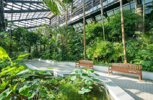 This photo, provided by Seoul Grand Park, shows an indoor botanical garden at the park in Gwacheon, just south of Seoul.