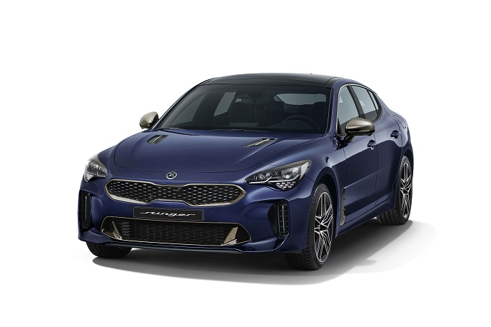 This file photo, provided by Kia Motors, shows the Stinger Meister sports car.