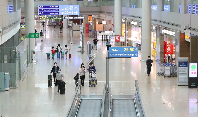 This photo shows Incheon International Airport, South Korea's main gateway, on July 31, 2020. (Yonhap)
