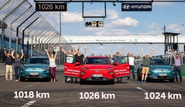 Hyundai Kona Electric Sets Record Travel Range
