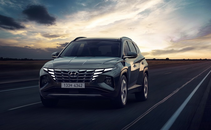 This photo provided by Hyundai Motor Co. shows the new Tucson SUV.